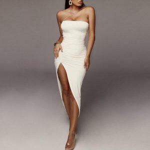 White Bohemian Chic Dress