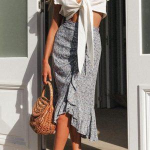 Bohemian floral skirt