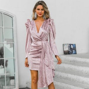 Bohemian Elegant Long Sleeve Short Dress