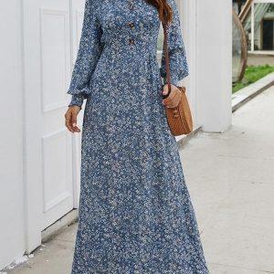 Dress boheme style loose