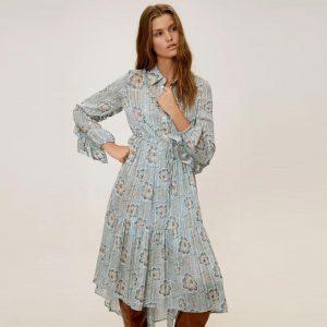 Bohemian chic dress in France