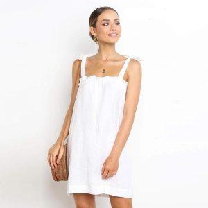 Bohemian chic white dress for women