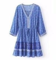 Bohemian blue dress