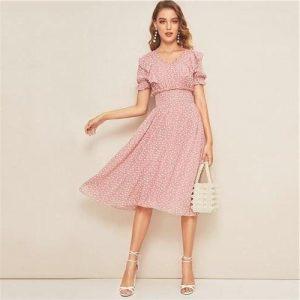 Pale pink bohemian dress