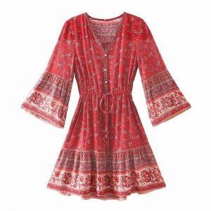 Bohemian short cocktail dress