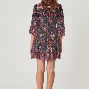 Hippie chic long sleeve dress