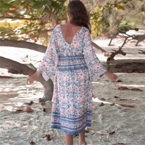 Blue summer maxi dress