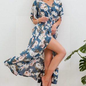 Bohemian chic long flowing dress