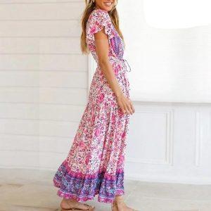 Bohemian print maxi dress