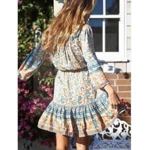 Bohemian short dress for women