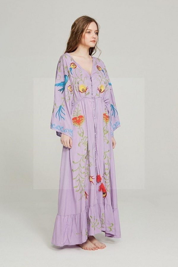 Bohemian dress with long sleeves