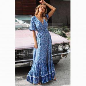 Bohemian romantic style dress